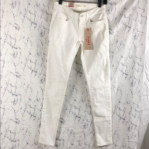NWT Levi's 535 Super Skinny White Jeans